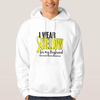 Llevo al cáncer testicular del novio 10 amarillos pulóver con capucha
