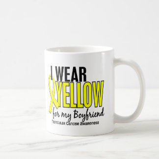 Llevo al cáncer testicular del novio 10 amarillos taza clásica