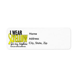 Llevo al cáncer testicular del sobrino 10 amarillo etiquetas de remite
