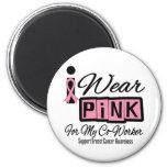 Llevo al compañero de trabajo rosado del cáncer de imán