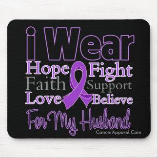 Llevo al marido púrpura del collage - cáncer pancr alfombrilla de ratón