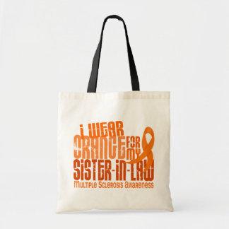 Llevo al ms anaranjado de la esclerosis múltiple d bolsa tela barata