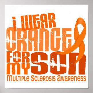 Llevo al ms anaranjado de la esclerosis múltiple d posters