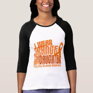 Llevo al ms anaranjado de la esclerosis múltiple d camiseta