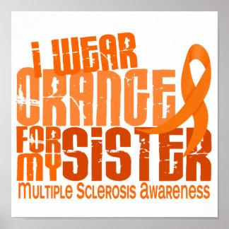 Llevo al ms anaranjado de la esclerosis múltiple d póster