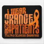 Llevo al ms anaranjado de la esclerosis múltiple d tapetes de ratones