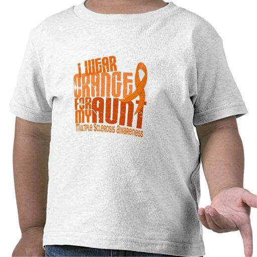 Llevo al ms anaranjado de la tía esclerosis múltip camiseta