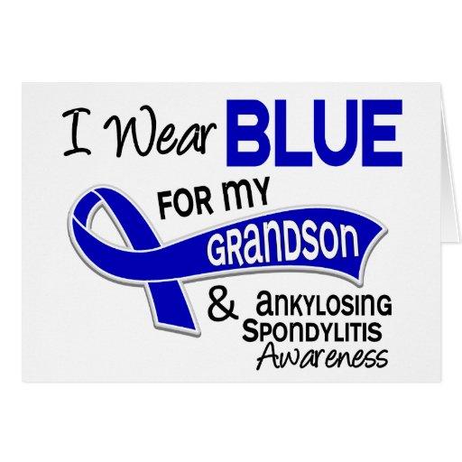 Llevo al nieto azul 42 Spondylitis Ankylosing Tarjetas