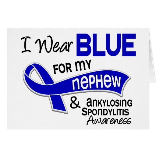 Llevo al sobrino azul 42 Spondylitis Ankylosing Tarjetas