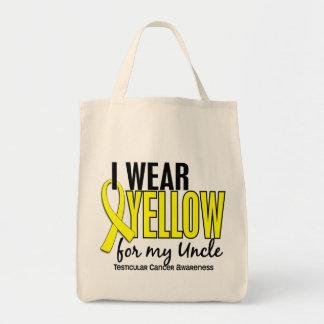 Llevo al tío amarillo 10 cáncer testicular bolsas de mano