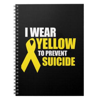 Llevo amarillo para prevenir suicidio - cuadernos