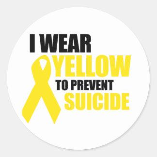 Llevo amarillo para prevenir suicidio pegatina