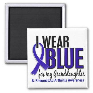 Llevo artritis reumatoide de la nieta 10 azules imán cuadrado