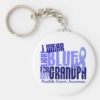 Llevo azul claro para el cáncer de próstata del ab llaveros