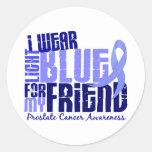 Llevo azul claro para el cáncer de próstata del am etiqueta redonda