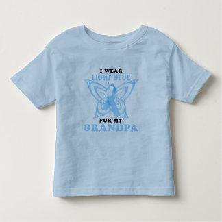Llevo azul claro para mi abuelo playera de bebé