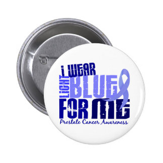 Llevo azul claro para mí al cáncer de próstata 6,4 pin redondo de 2 pulgadas
