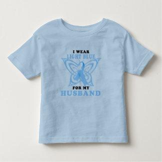 Llevo azul claro para mi marido playera de bebé