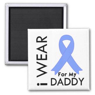 Llevo azul claro para mi papá - cáncer de próstata imán cuadrado
