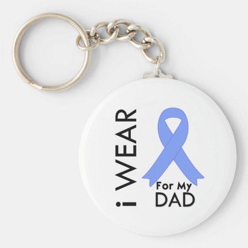 Llevo azul claro para mi papá - cáncer de próstata llaveros personalizados