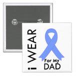 Llevo azul claro para mi papá - cáncer de próstata pin