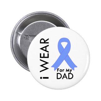 Llevo azul claro para mi papá - cáncer de próstata pin redondo de 2 pulgadas