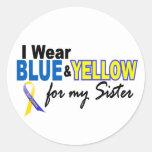 Llevo azul y amarillo para mi hermana Síndrome de  Pegatina