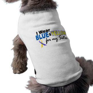 Llevo azul y amarillo para mi hermana Síndrome de  Camisetas De Mascota