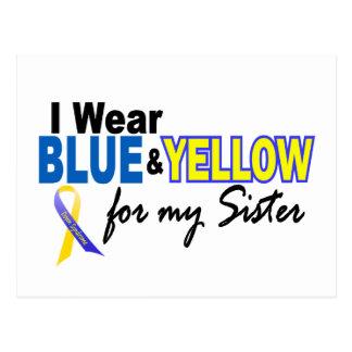 Llevo azul y amarillo para mi hermana Síndrome de  Tarjeta Postal
