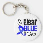 Llevo Blue Ribbon para mi papá - cáncer de colon Llavero
