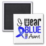Llevo Blue Ribbon para mi tía - cáncer de colon Imanes