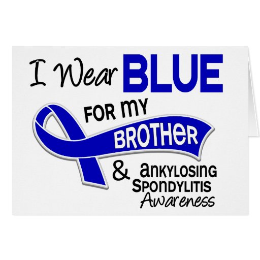 Llevo Brother azul 42 Spondylitis Ankylosing Felicitaciones