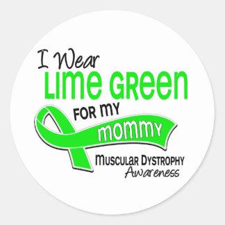 Llevo distrofia muscular de la mamá de la verde pegatina redonda