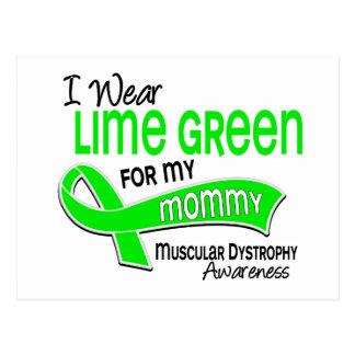Llevo distrofia muscular de la mamá de la verde tarjeta postal