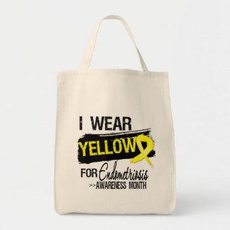Llevo el amarillo para el mes de la conciencia de  bolsa