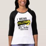 Llevo el amarillo para la endometriosis de la cura camisetas