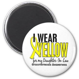 Llevo el amarillo para la endometriosis de la imán redondo 5 cm
