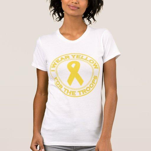 Llevo el amarillo para las tropas tee shirt