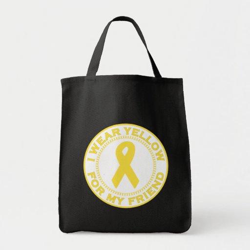 Llevo el amarillo para mi amigo bolsa tela para la compra