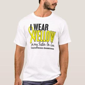 Llevo el amarillo para mi cuñada 10 Endometriosi Playera