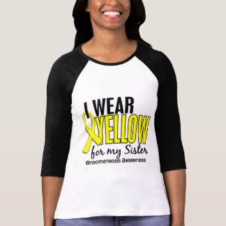 Llevo el amarillo para mi endometriosis de la herm camiseta