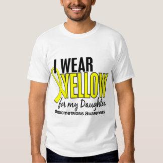 Llevo el amarillo para mi endometriosis de la hija camisas