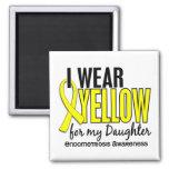 Llevo el amarillo para mi endometriosis de la hija iman de frigorífico