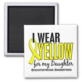 Llevo el amarillo para mi endometriosis de la hija imán cuadrado