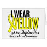 Llevo el amarillo para mi endometriosis de la hija felicitacion