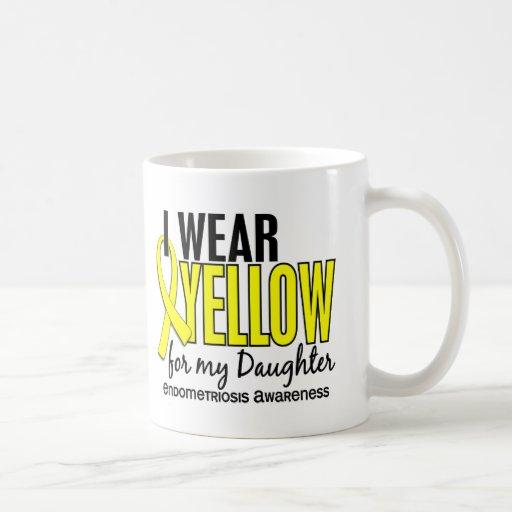 Llevo el amarillo para mi endometriosis de la hija tazas