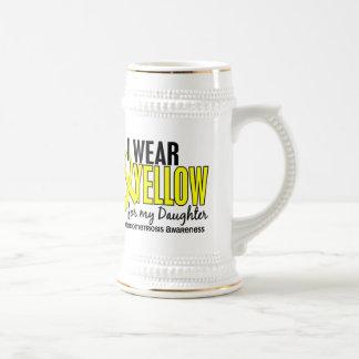 Llevo el amarillo para mi endometriosis de la hija taza de café