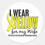 Llevo el amarillo para mi endometriosis de la etiquetas redondas
