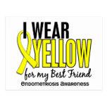 Llevo el amarillo para mi endometriosis del mejor postal