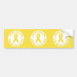 Llevo el amarillo para mi hija etiqueta de parachoque